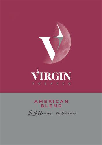 V VIRGIN TOBACCO AMERICAN BLEND Rolling tobacco trademark