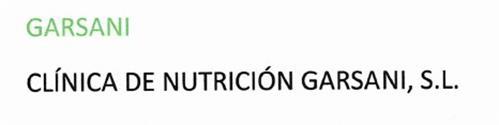 Garsani .Clínica de Nutrición Garsani, S.L trademark
